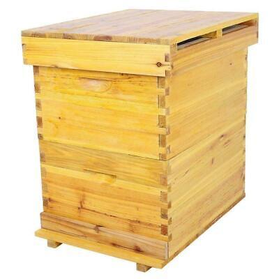 Beekeeping Cedar Wood Honey Super Brood Box Case For 10 Frames Bee Hive House