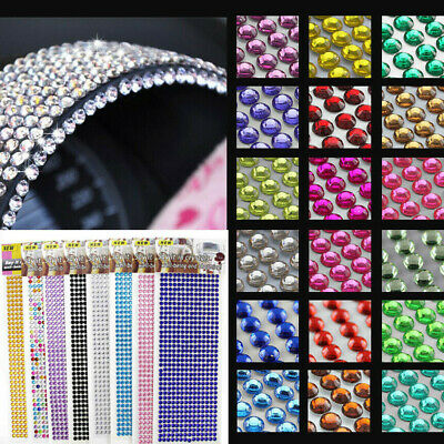 Self Adhesive Glitter Crystals Gems Jewels Stick On Diamante Rhinestones Strip Jewels Adhesive Rhinestones