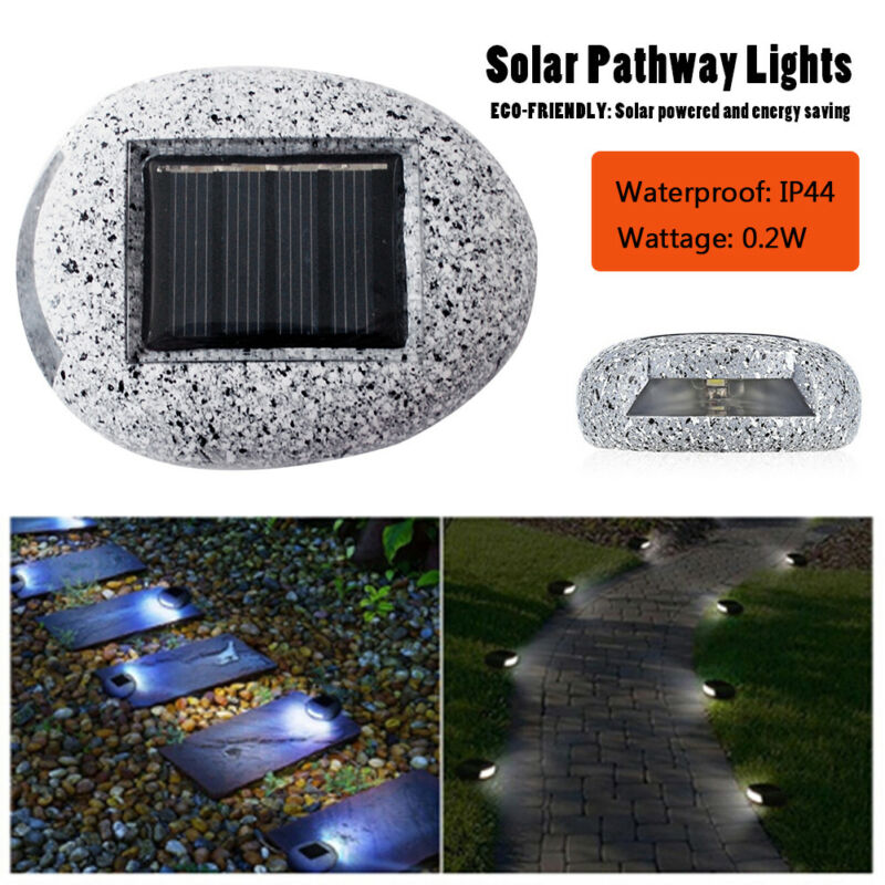 3D Fake Stone Solar Power LED Lamp Outdoor Garden Landscape Yard Pathway Lights
