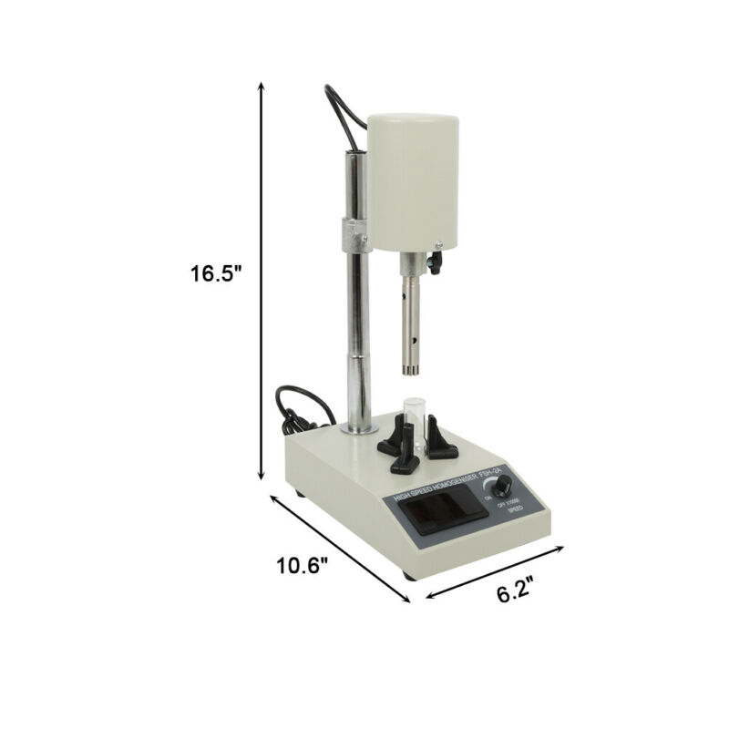 High Speed Electric Lab Mixer High Accuracy Homogenizer Agitator 10~1000ml