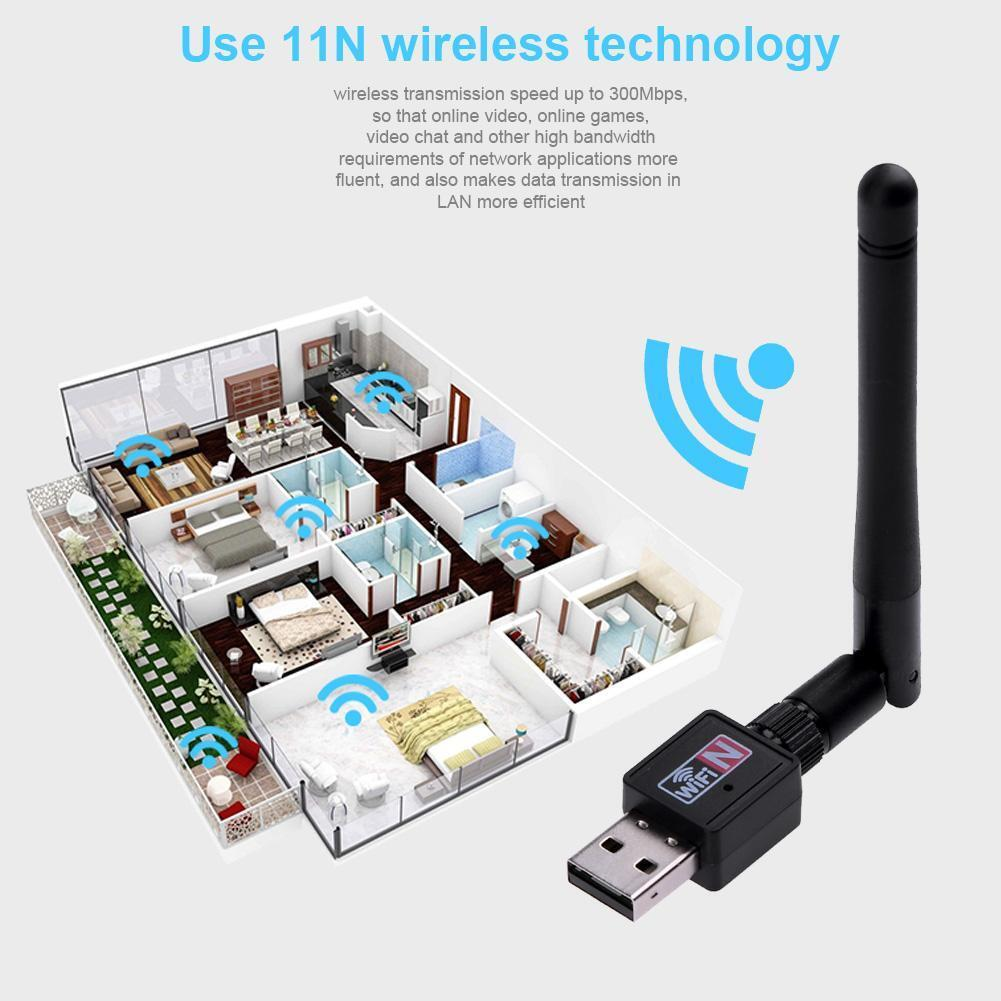 Details about 300Mbps USB2 0 Wifi Router Wireless Adapter Network LAN Card  for Laptop Computer