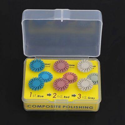 Dental Composite Resin Polishing Disc Kit Spiral Flex Brush Ra Burs Coarsefine