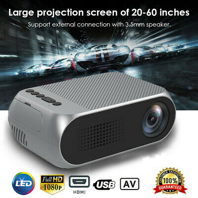 Mini Portable LED Projector 3D 1080P Full HD Video Home Theater Cinema HDMI USB