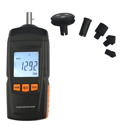 Gm8906 Digital Contact Tachometer 0.519999 Speed Tach Meter Rpm Gauge Handheld