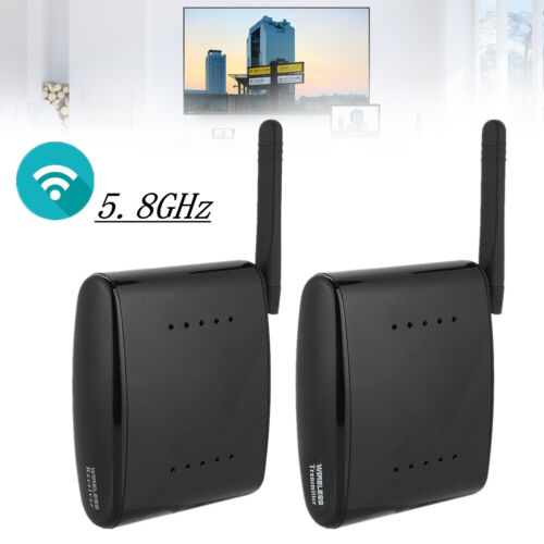5.8 GHz Funk Audio Video Übertragung AV Sender & TV Empfänger Set 24 Kanäle DM 1
