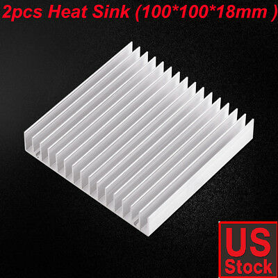 2pcs Big Aluminum Heatsink Heat Sink Radiator For Led High Power Amplifier