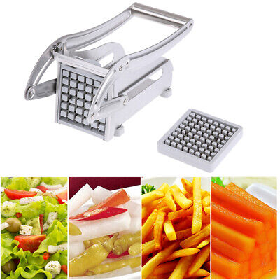 2 Blades French Fry Cutter Potato Vegetable Slicer Chopper Dicer Stainless Steel