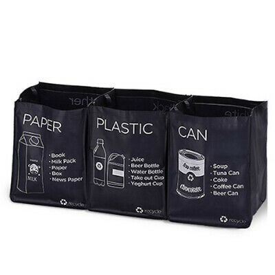 Ribens Recycle Bag Separate Recycle Bin Waterproof Waste Baskets Dark Purple