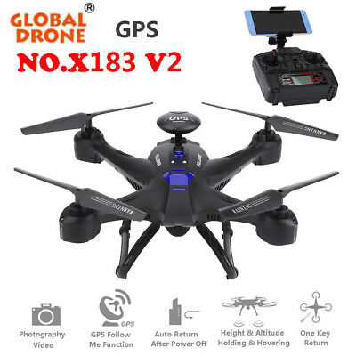 GPS Global Drone X183V2 Quadcopter 1080P Camera WiFi FPV Altitud Helicopter Toys