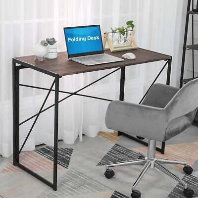 Foldable Computer Desk Folding Laptop Table Home Office Study Gaming Desk Metal