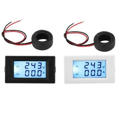 Ac Voltmeter Ammeter Lcd Digital Display Volt Amp Meter Tester Mini Gauge