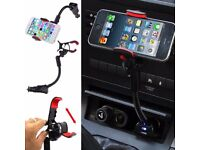 SAMSUNG MOBILE PHONE CAR CHARGER & MOUNT HOLDER