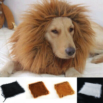 HOT Pet Costume Lion Mane Wig for Dog Halloween Clothes Festival Dress Up Conven - Lion Halloween Costume For Dogs