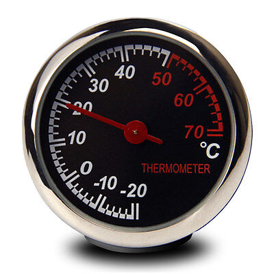 Steel Car LCD Temperature Thermometer Meter Dashboard Table Ornament Decoration