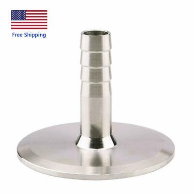 1.5 Tri Clamp To 12 Barb Stainless Sanitary Pipe Fitting Ferrule Od 50.5mm