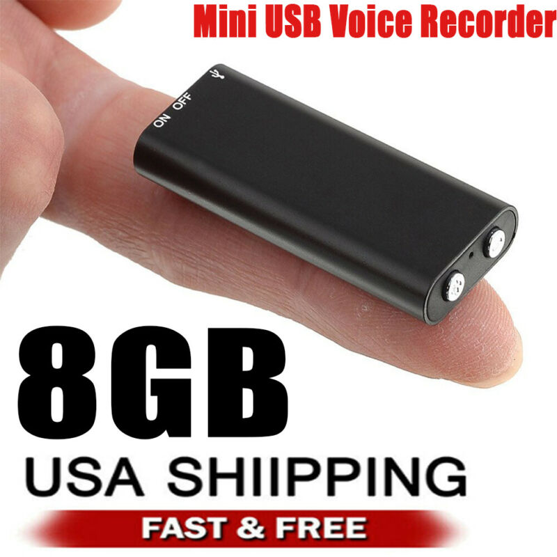 Mini Spy Audio Recorder Voice Listening Device 96 Hours 8GB Bug Recording NEW US