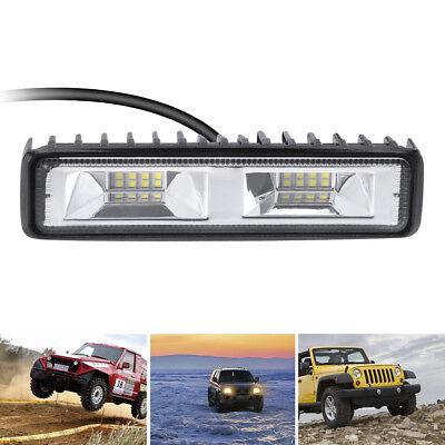 48W LED Arbeitscheinwerfer 16LEDs Nebel Lampe Strahler Flutlicht SLKW SUV 12V