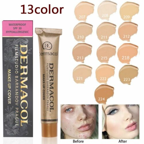 Fondotinta dermacol Waterproof spf30 Super Coprente Matte Cover Makeup Viso New