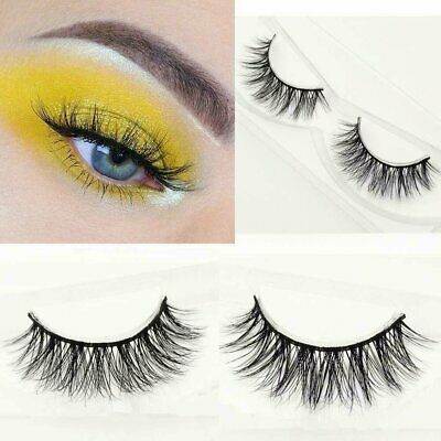 100% Siberian Mink Fur Soft Thick 3D False Eyelashes Natural Long Lashes Handmad Eyes