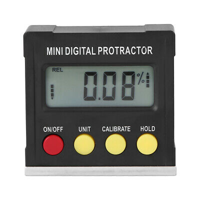 Mini Magnetic Base Lcd Digital Angle Protractor Inclinometer Measuring Gauge Kit