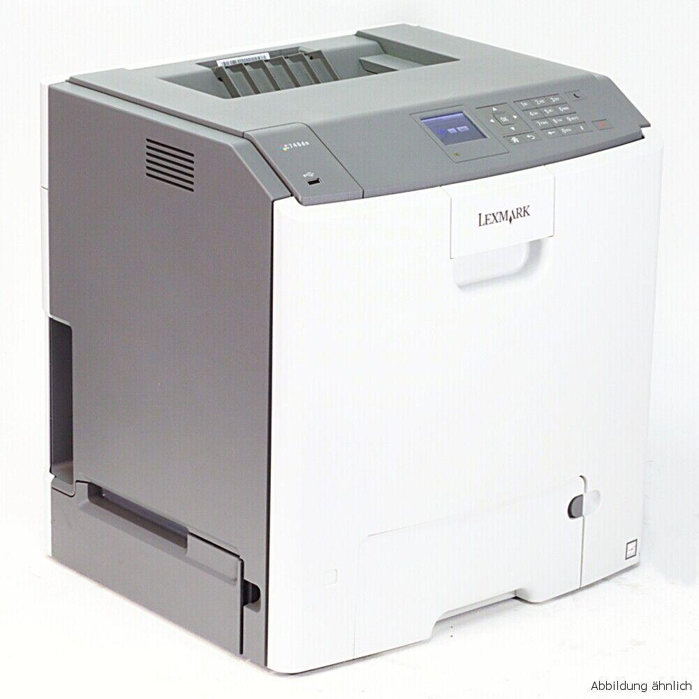 Lexmark imprimante c748de imprimante laser couleur avec duplex et réseau utilisé