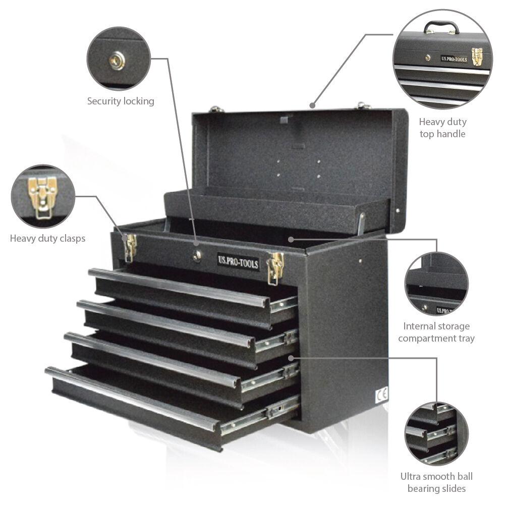 US Herramientas Pro Acero Metal Individual Caja almacenaje MUEBLE ...