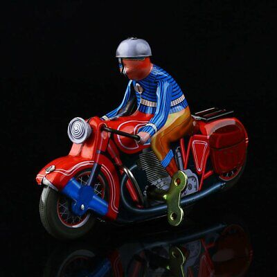 Wind Up Toy (1 Pc Vintage Wind Up Motorcycle Rider Clockwork Tin Toy Collectible Gift)