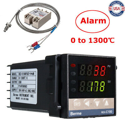 Ac110-240v Rex-c100 Digital Alarm Pid Temperature Controller Machine 01300 Us