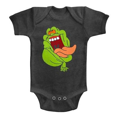 Ghostbusters Happy Slimer Ghost Baby Body Suit Ecto Infant Romper Boy - Baby Slimer