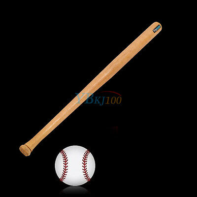 81cm Baseballschläger Baseball Bat Holz Naturfarbe Softballschläger SS-04 TOLL