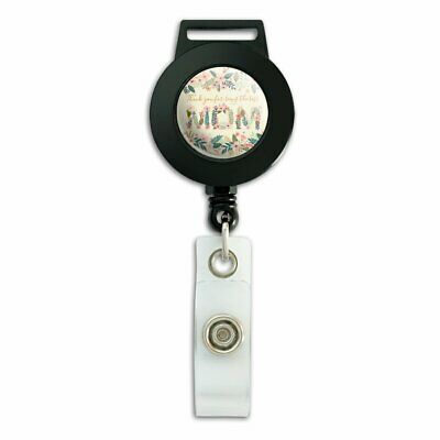Thank You for Being the Best Mom Mother's Day Lanyard Reel Badge ID Card