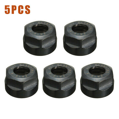 5pcs Er16 A Type Collet Clamping Nut For Cnc Milling Chuck Holder Lathe Tool Set