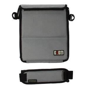 iPad 3/4/air Tablet Grey Padded Zip Up Shoulder Bag Card Accessories Case