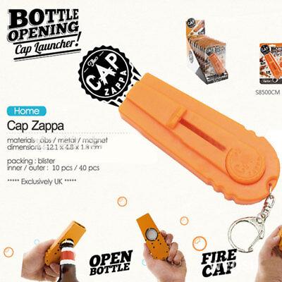 Cap Zappa Orange Bottles Opener Launcher Fancy Beer Keyring Spinning Hat Shoot