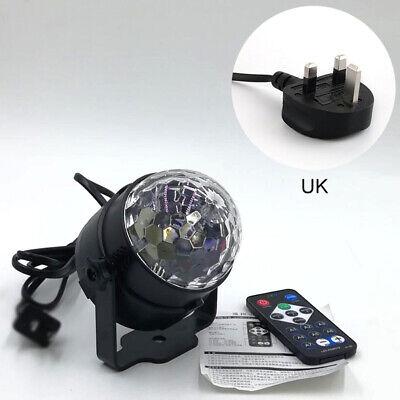 LED Magic Ball Stage Light Club RGB Rotating Disco Party DJ Decor Remote UK Plug