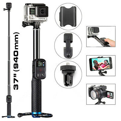 Selfie Stick Extendable Pole Telescopic Monopod Handheld For GoPro Hero 5 4 3+ 2