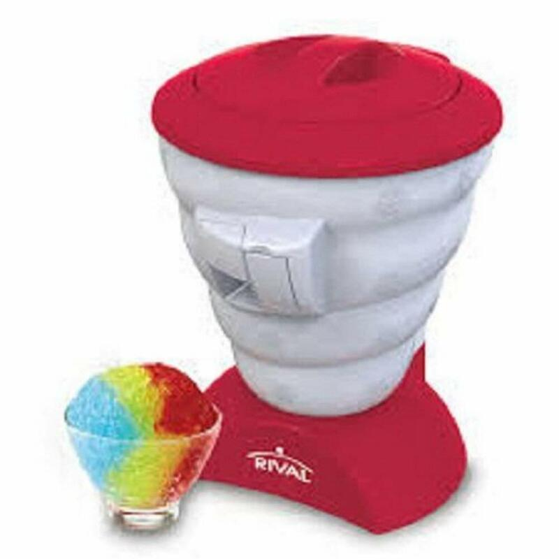 Rival FRRVISBZ-RED2_EGB-RB Frozen Shaved Snow Cone Maker (Certified Refurbished)