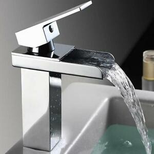 Quartet Sink Faucet Waterfall Faucet Glass Vessel Sink Bathroom ...