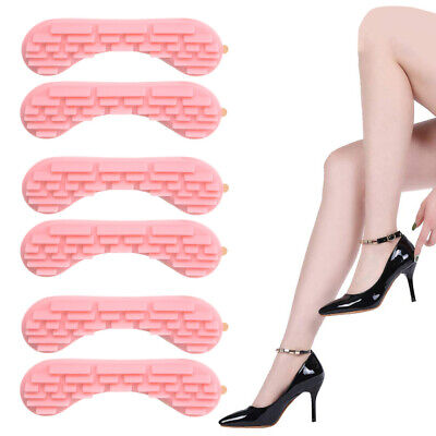 3 Pairs 4D Heel Cushion Inserts Pads Grips Liners for Loose Shoes Blisters Pink