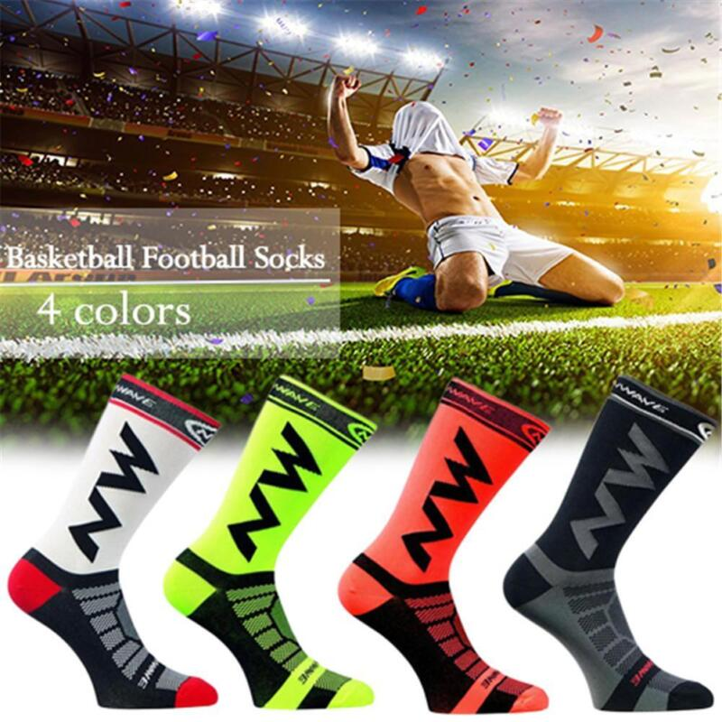 Men Women Riding Cycling Sports Socks Unseix Breathable Bicycle Footwear DAT