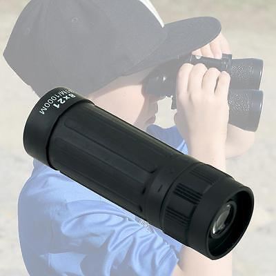 Mini Pocket Size Monocular Spyglass Telescope with Case String Cleaning Cloth BY