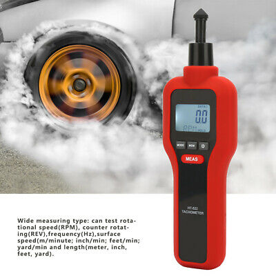 Handheld Non-contact Contact Digital Tachometer Tach Rotate Speed Meter