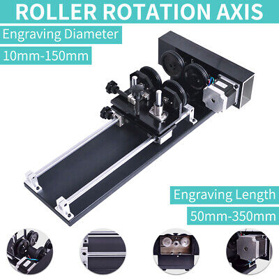 TOP! Rotary CNC Attachment Roller Axis Laser Engraver Machine Rotation -