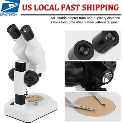 20x To 40x Binocular Lab Compound Microscope With 3d Mechanical Stage 10w Led