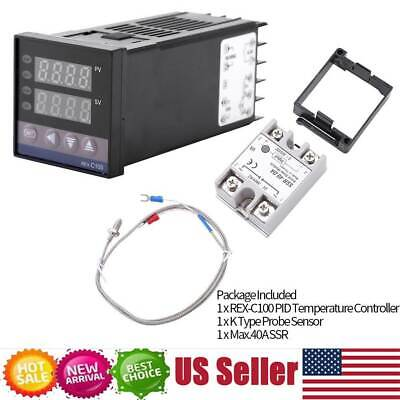01300 Alarm Rex-c100 Digital Led Pid Temperature Multifunction Controller Kit