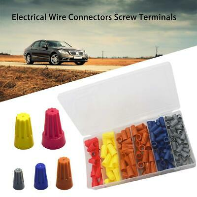 180 PCS Electrical Wire Connectors Screw Terminals Easy Twist On Connector Kit