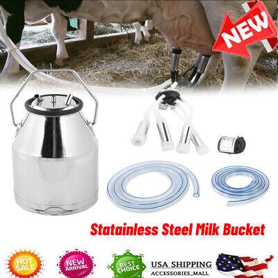 Portable Milking Milker Machine Bucket Tanks Container Barrel Stainless Steel