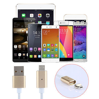 2.4A Micro USB Charging Cable Magnetic Adapter Charger For Samsung / LG Android 1
