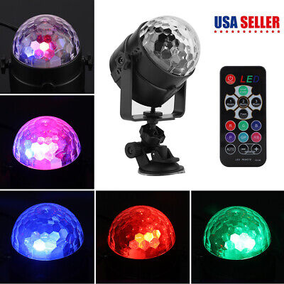 RGB LED Stage Light Ball Disco DJ Party KTV Rotating Remote Projector Sportlight](Party Projector)