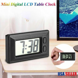 Mini Digital LCD Screen Clock Table Auto Car Dashboard Desk Date Time Display US